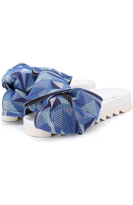 Шлепанцы Bow из текстиля с бантами Joshua Sanders 10060/MULTIC0L0R B0W VAR 3