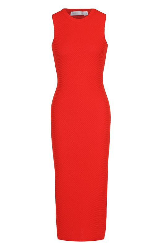 Платье-футляр фактурной вязки без рукавов Victoria Beckham DRS KNT 005 PSS17/ELITE VISC0SE VK2000