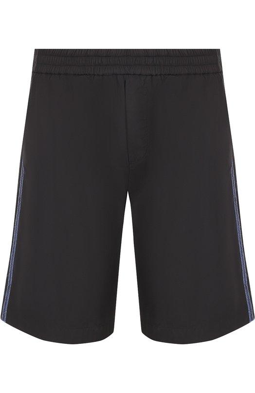 Хлопковые шорты свободного кроя с контрастными лампасами No. 21 N1M/D021/0696