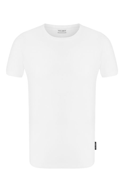 Хлопковая футболка с круглым вырезом Dolce & Gabbana 0121/N8A09J/00024