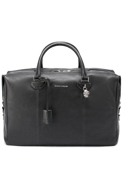 Кожаная дорожная сумка с плечевым ремнем Alexander McQueen 453680/DL70N