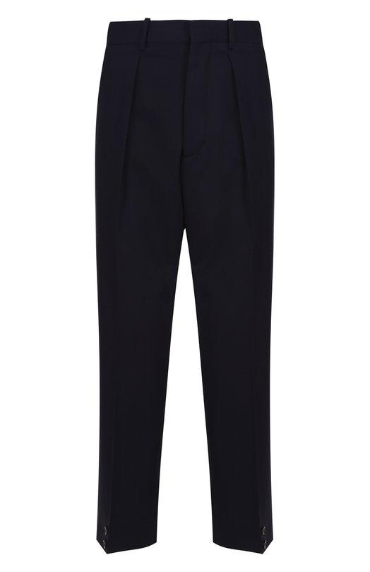 Шерстяные укороченные брюки свободного кроя Marni M05KA0041/S45449