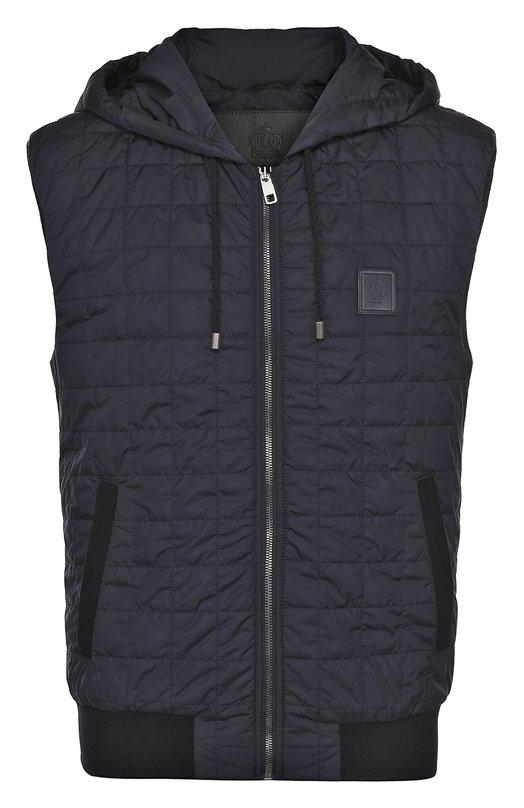 Утепленный стеганый жилет на молнии с капюшоном Dolce & Gabbana 0101/G9HK7T/FUMQG