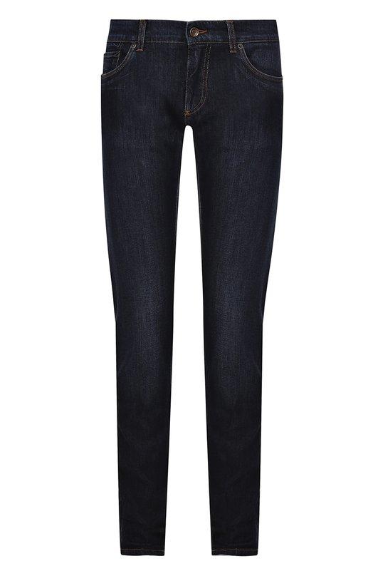 Джинсы прямого кроя с контрастной прострочкой Dolce & Gabbana 0101/G6X0LD/G8U41