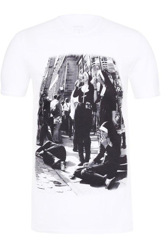 Купить Хлопковая футболка с принтом Bisibiglio Италия 5142119 M0D.SIN