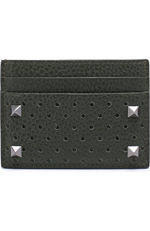Кожаный футляр для кредитных карт с перфорацией Valentino