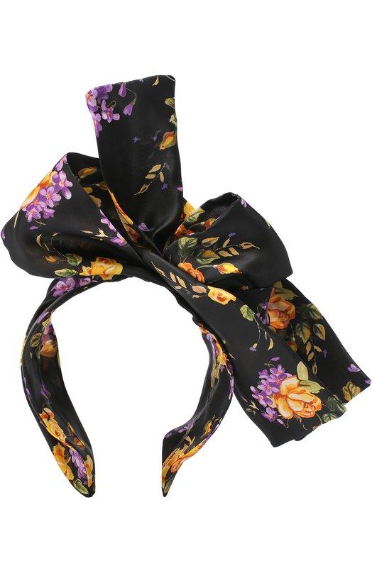 Ободок из шелка с принтом Dolce & Gabbana 0136/FY191A/HS1MA