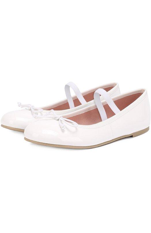 Лаковые балетки с декором Pretty Ballerinas 39.270/SHADE BLANC0