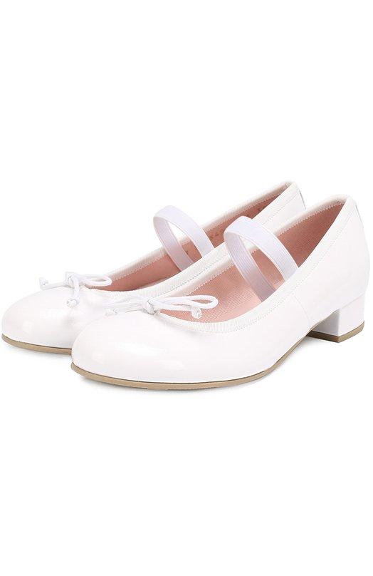 Лаковые туфли с декором Pretty Ballerinas 39.975/SHADE BLANC0