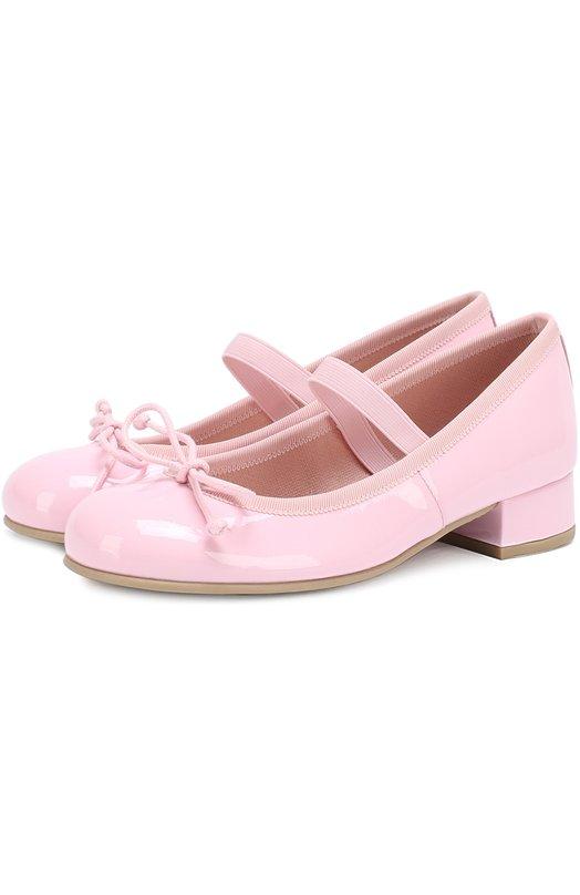 Лаковые туфли с декором Pretty Ballerinas 39.975/SHADE R0SA