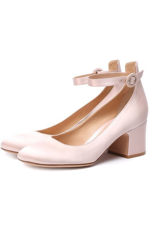 Атласные туфли с ремешком на щиколотке Gianvito Rossi G21086.60RIC.RAS
