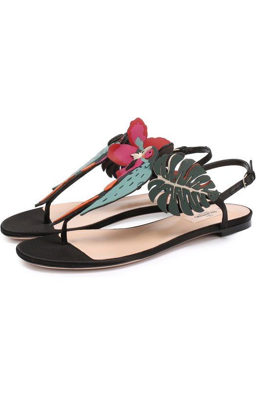 Кожаные сандалии Tropical Dream с аппликацией Valentino MW2S0C02/TRZ