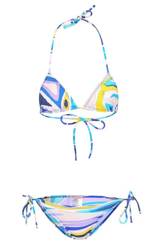 Раздельный купальник с треугольным бра и ярким принтом Emilio Pucci 72/MA32/72770