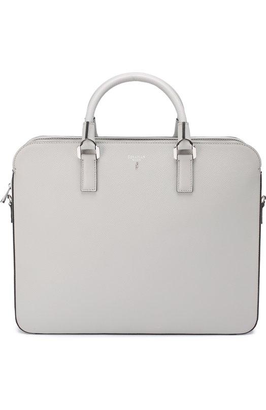 Кожаный портфель с плечевым ремнем Serapian 6669