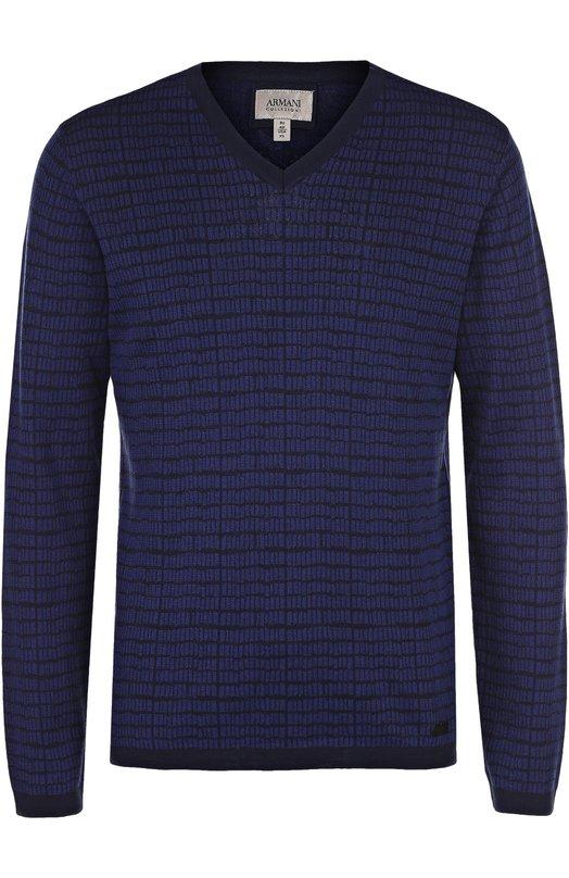 Пуловер тонкой вязки из смеси шелка и хлопка Armani Collezioni 3YCM15/CM18Z
