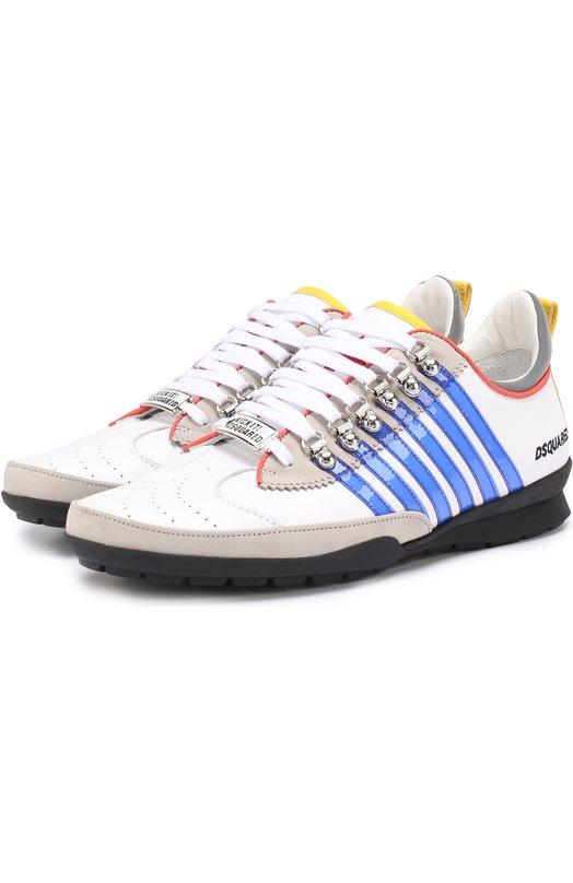 Комбинированные кроссовки 251 на шнуровке Dsquared2 S17SN131/1102