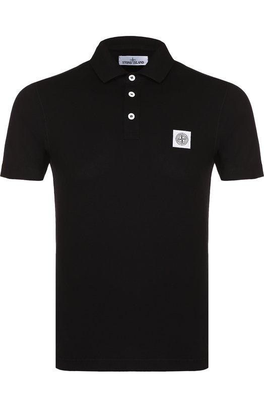 Хлопковое поло с логотипом бренда Stone Island 661520518