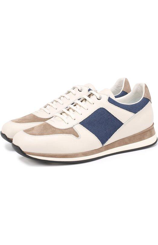 Комбинированные кроссовки на шнуровке Ermenegildo Zegna A2709XM0F