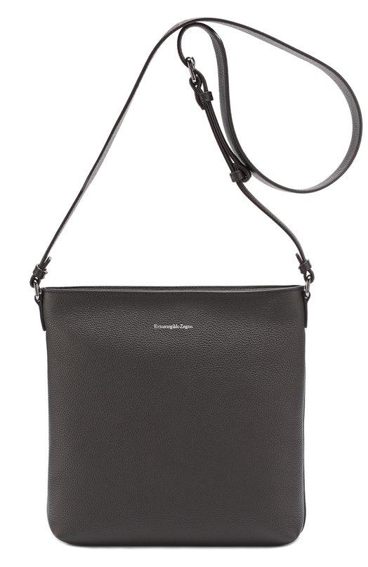 Кожаная сумка-планшет с внешним карманом Ermenegildo Zegna C1245DT0E