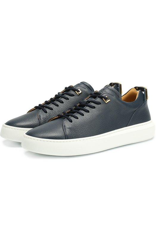Купить Кожаные кеды на шнуровке с декоративной отделкой Buscemi Италия 5142958 117SU053LC010A/40-46