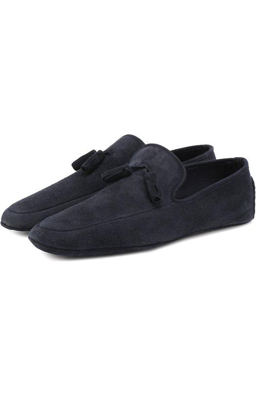 Домашние замшевые туфли A. Testoni P00123/SUEDE DE LUXE