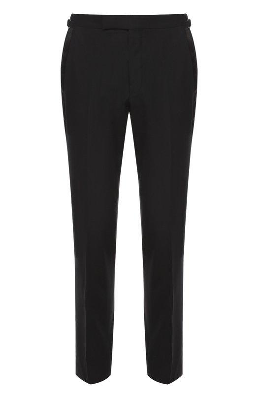 Купить Шерстяные брюки прямого кроя Tom Ford, 922R1361004V, Швейцария, Темно-синий, Шерсть: 100%; Подкладка-купра: 100%;
