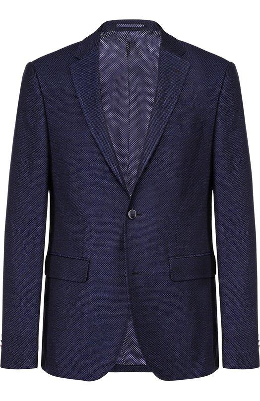 Однобортный пиджак из смеси льна и шерсти Sand 6928/SAR0N.