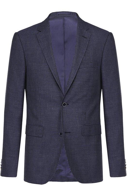 Однобортный пиджак из смеси шерсти и хлопка с шелком Sand 6933/STAR S0FT