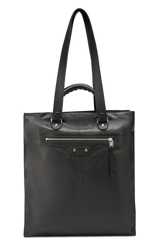 Кожаная сумка-тоут North-South с плечевым ремнем Balenciaga 458534/D9HJ4