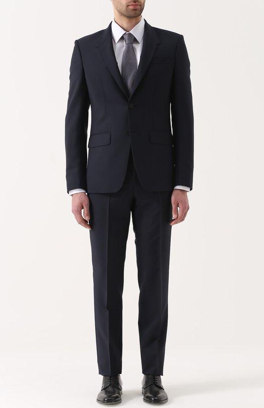 Шерстяной костюм с пиджаком на двух пуговицах Givenchy 17S/1243/005