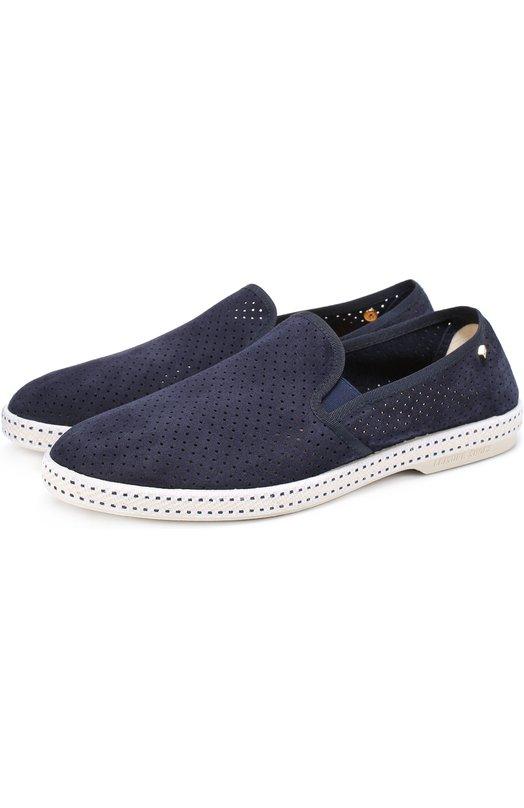 Кожаные эспадрильи с перфорацией Rivieras Leisure Shoes 3064
