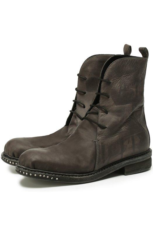 Высокие кожаные ботинки с круглым мысом Masnada M18S00