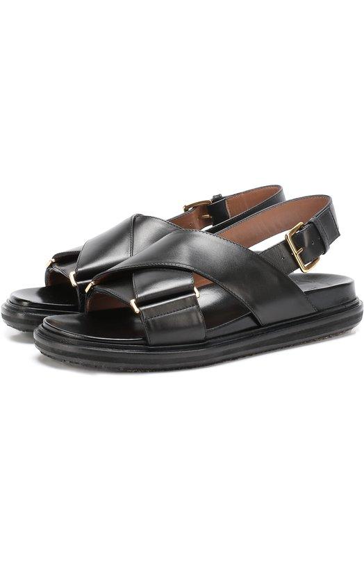 Кожаные сандалии Fussbett с ремешками Marni FBMSQ04G01LV691