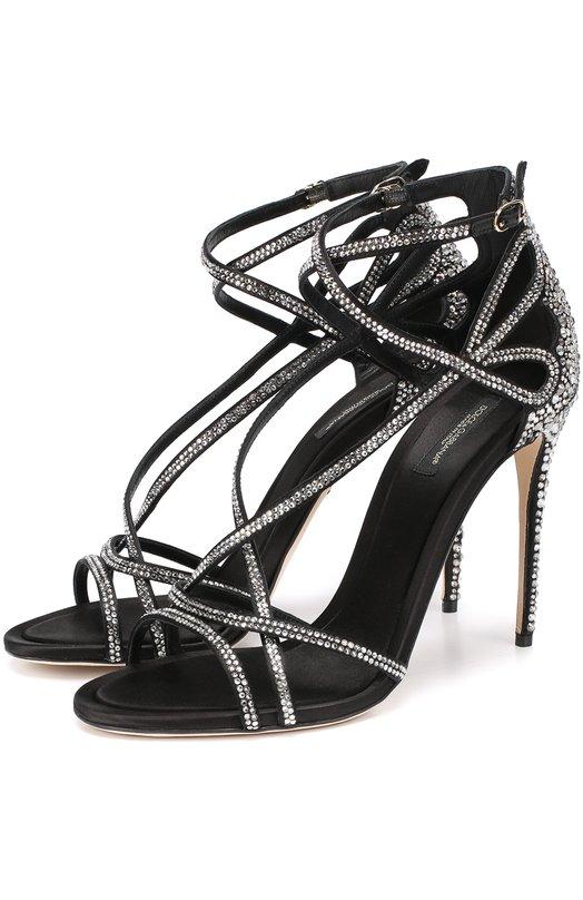 Босоножки со стразами на шпильке Dolce & Gabbana 0112/CR0205/AE699