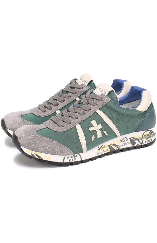 Комбинированные кроссовки Lucy на шнуровке Premiata LUCY/2023