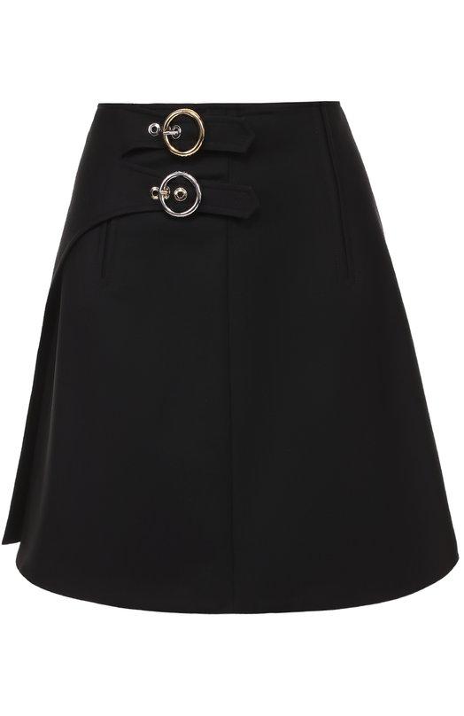 Мини-юбка с запахом и контрастными металлическими пряжками Kenzo F752JU0305AU