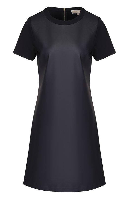 Мини-платье прямого кроя с коротким рукавом MICHAEL Michael Kors MH68WM71WL