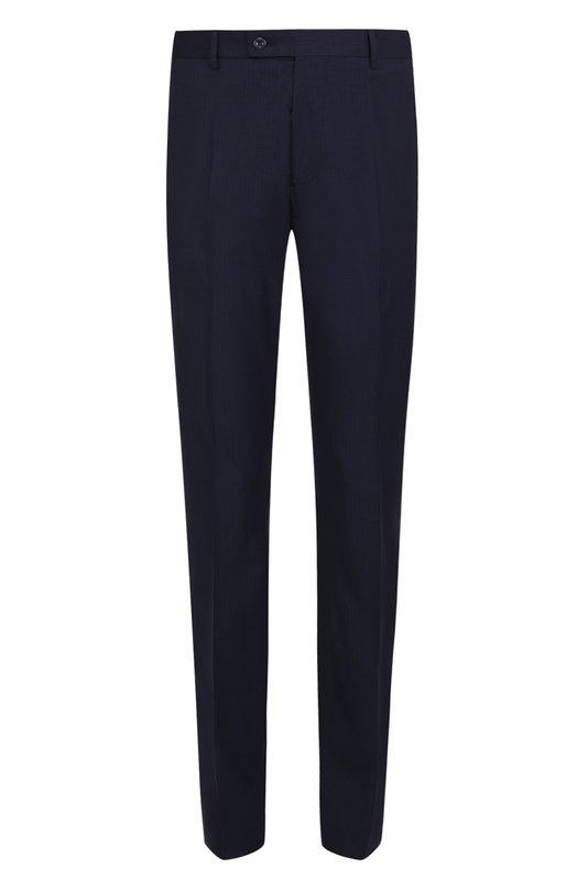 Купить Хлопковые брюки прямого кроя Berwich, SC/1/TS1550X, Италия, Темно-синий, Хлопок: 98%; Эластан: 2%;