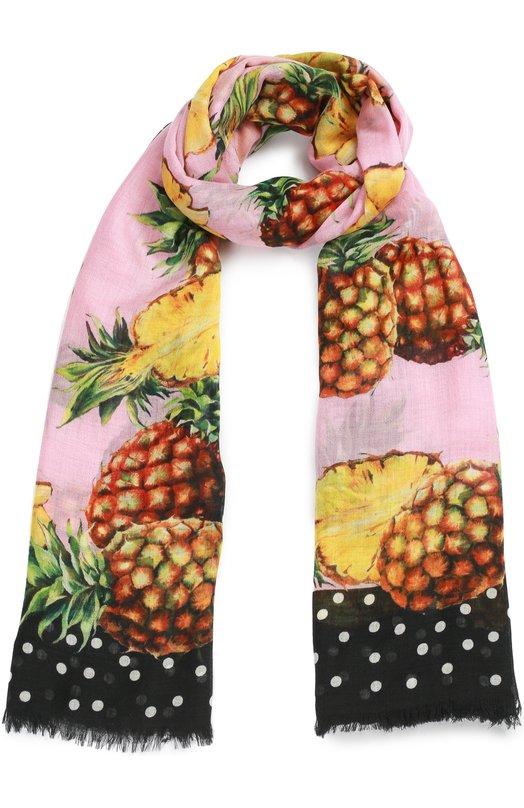 Купить Кашемировый шарф с принтом Dolce & Gabbana, 0136/FS184A/GD926, Италия, Разноцветный, Кашемир: 100%;