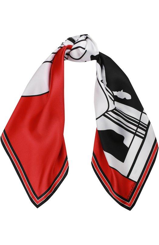 Шелковый платок с принтом Givenchy GW9090/SC810