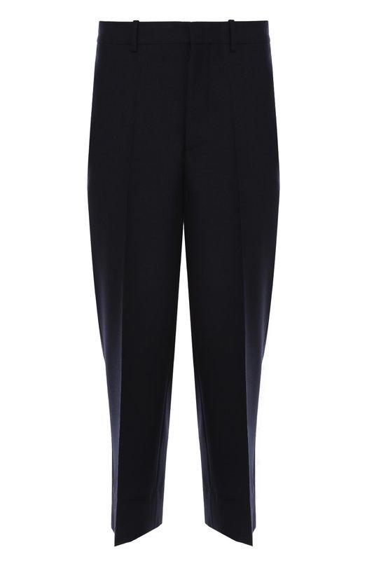 Шерстяные укороченные брюки свободного кроя Marni M05KA0039/S44997