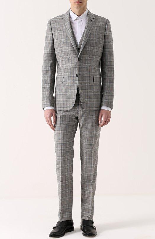 Шерстяной костюм-тройка в клетку Valentino MV3CRR24/404