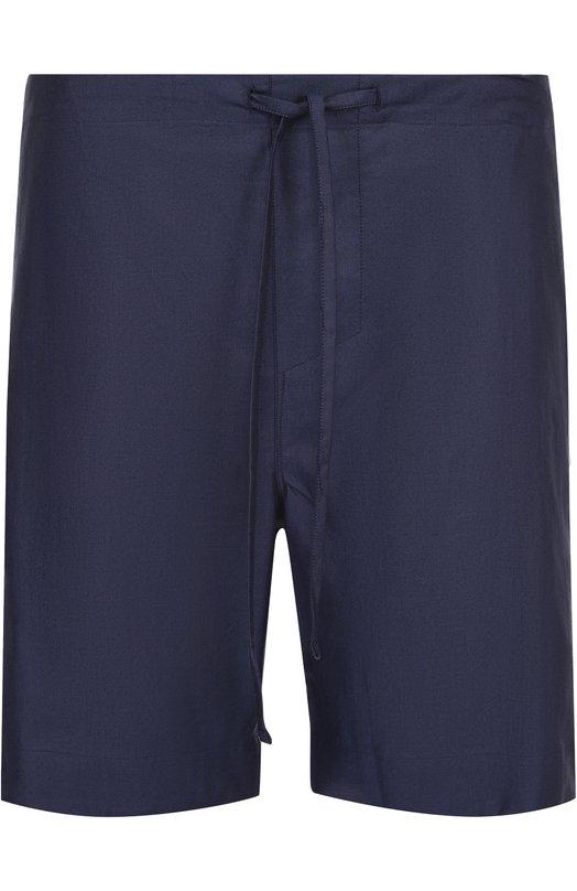 Хлопковые домашние шорты с поясом на резинке Zimmerli 4680/75450