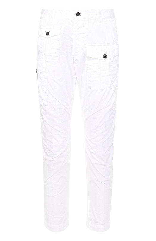 Хлопковые брюки карго с заниженной линией шага Dsquared2 S74KB0016/S41796
