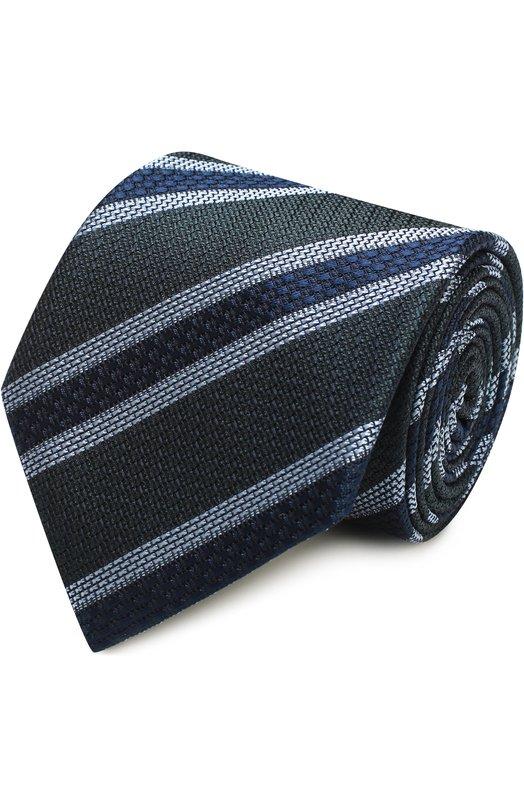 Шелковый галстук в полоску Brioni 063I/P6463