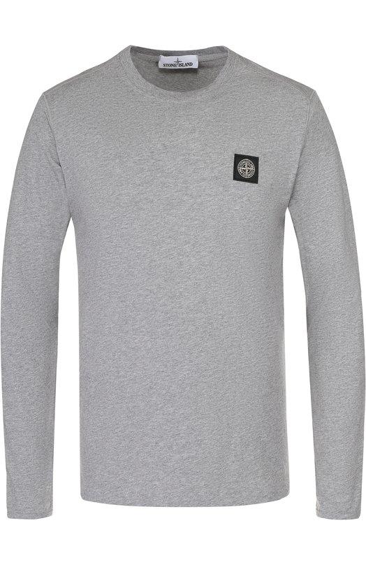Хлопковый лонгслив с логотипом бренда Stone Island 661521641