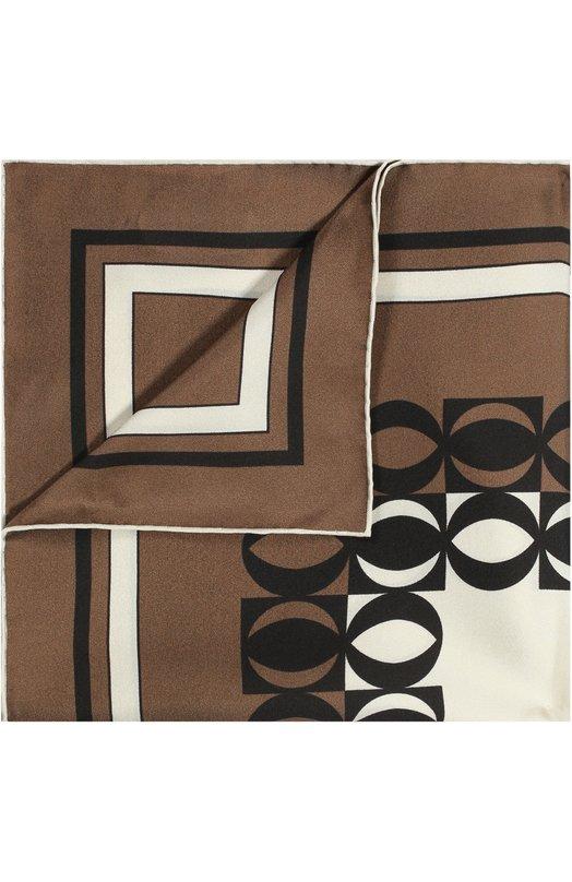 Купить Шелковый платок с узором Tom Ford, 9TF79TF312, Италия, Коричневый, Шелк: 100%;