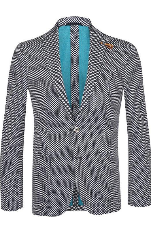Хлопковый однобортный пиджак Baldessarini 14681/7166