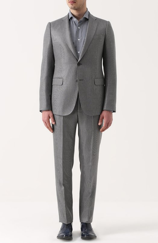 Шерстяной костюм с пиджаком на двух пуговицах Armani Collezioni VCVMEB/VC617