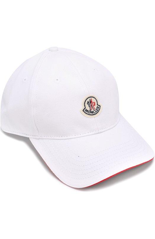 Хлопковая бейсболка с логотипом бренда Moncler C1-091-00212-00-02449